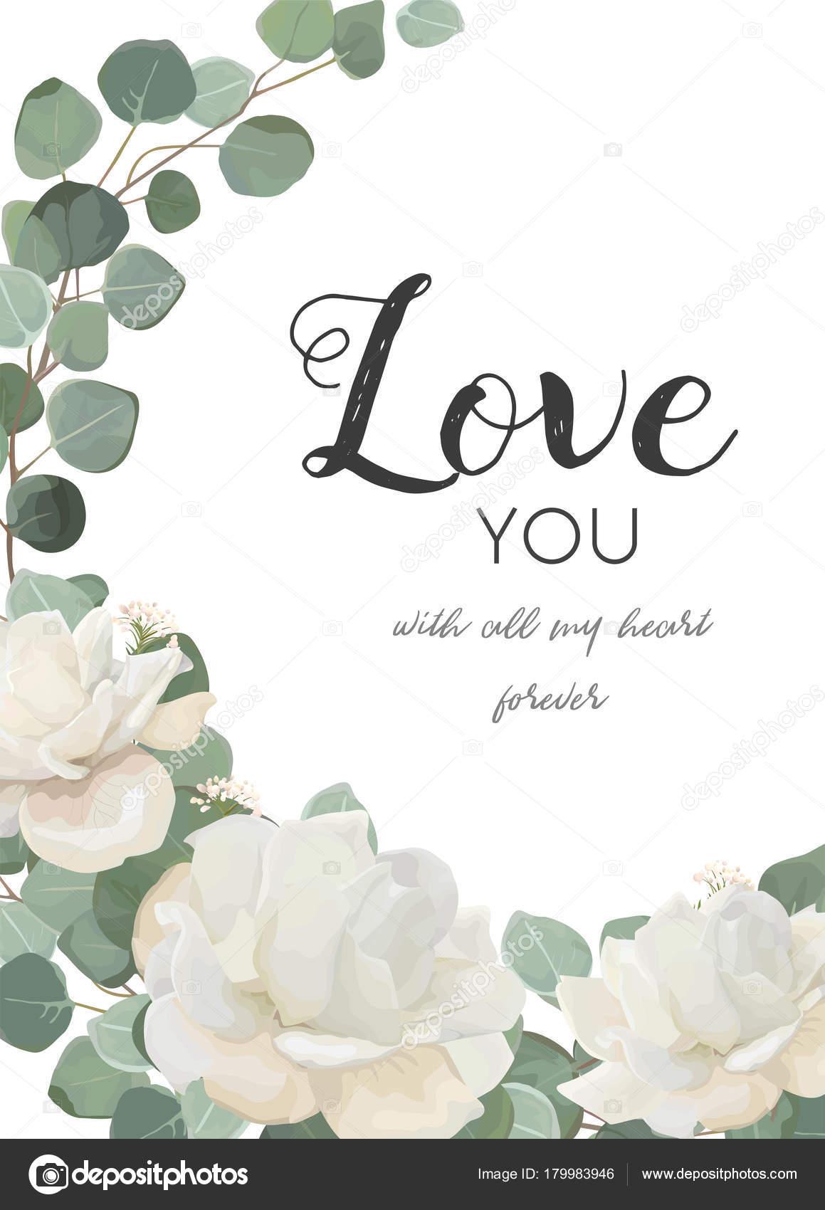 Weiße Rose Pulver Pfingstrose Blume, Eucalyptus Zweig Mit Blättern U0026 Grün  Mischen Girlande Bouquet. Postkarte, Hochzeit Einladung Vorlage.