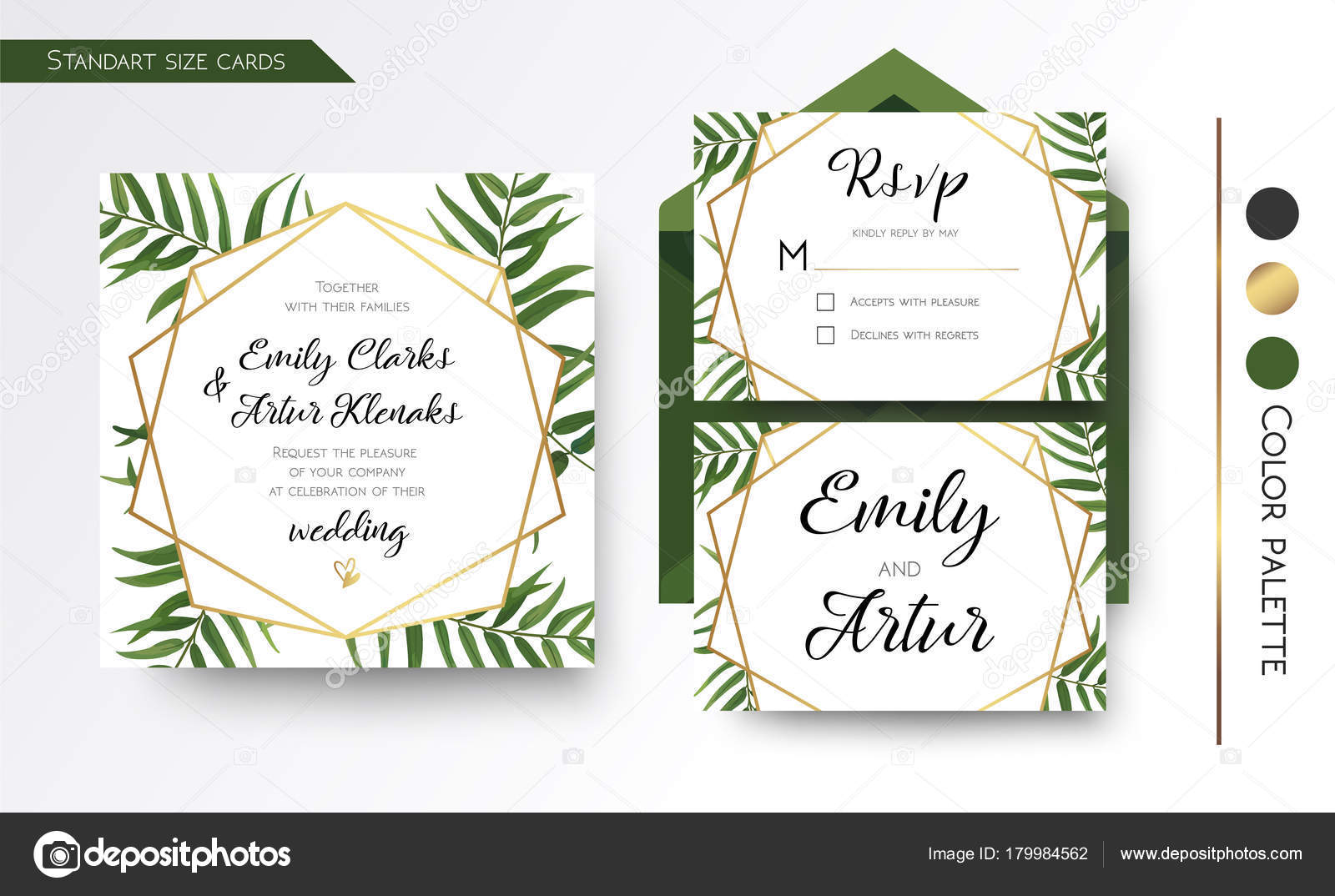 Wedding Invitation save the date rsvp invite card Design with