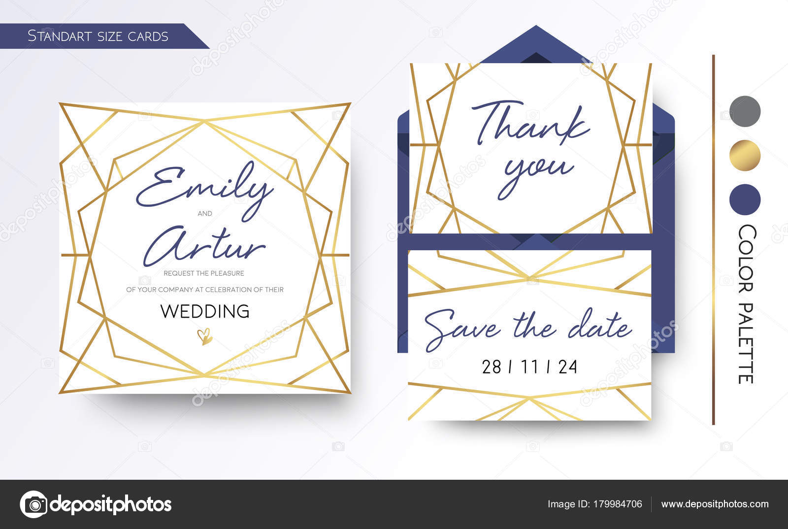 3b22a70fc57d0 Wedding Invitation, save the date, thank you invite card design with ...