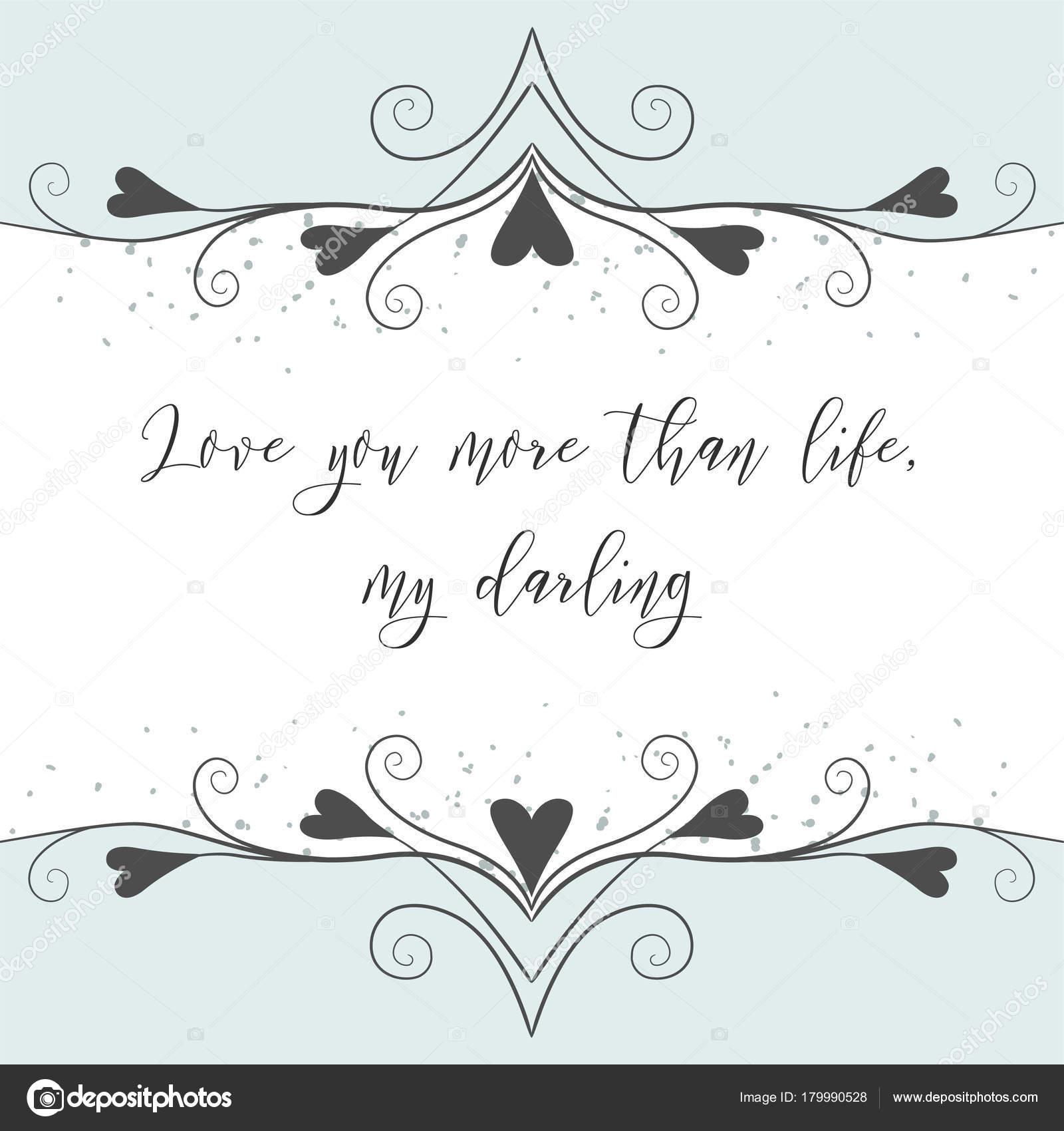 Vektor Hand Gezeichnete Schonen Valentinstag Grusskarte Einladung W