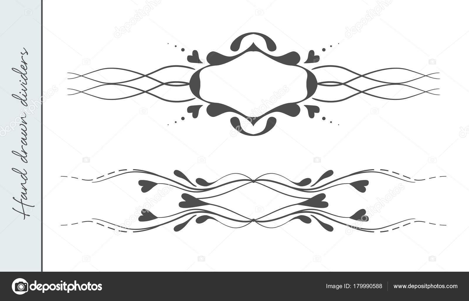 Vektor Hand Gezeichnete Schonen Valentinstag Floriert Text Trennwand