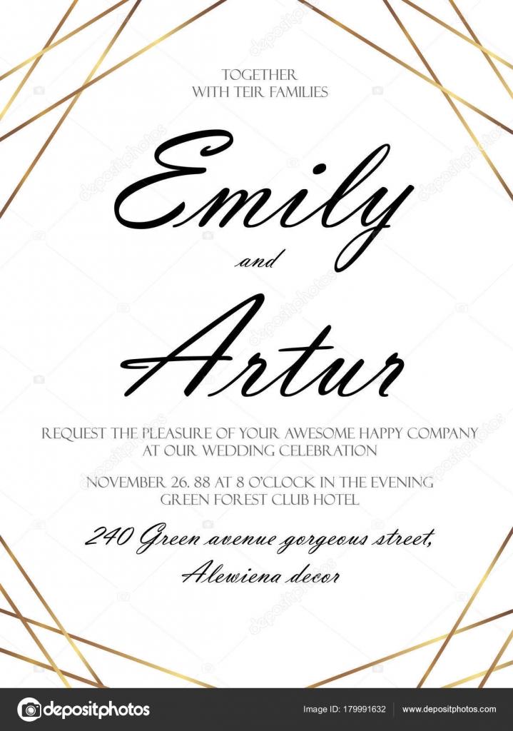 Wedding Invite Invitation Save The Date Card Delicate Design Witn
