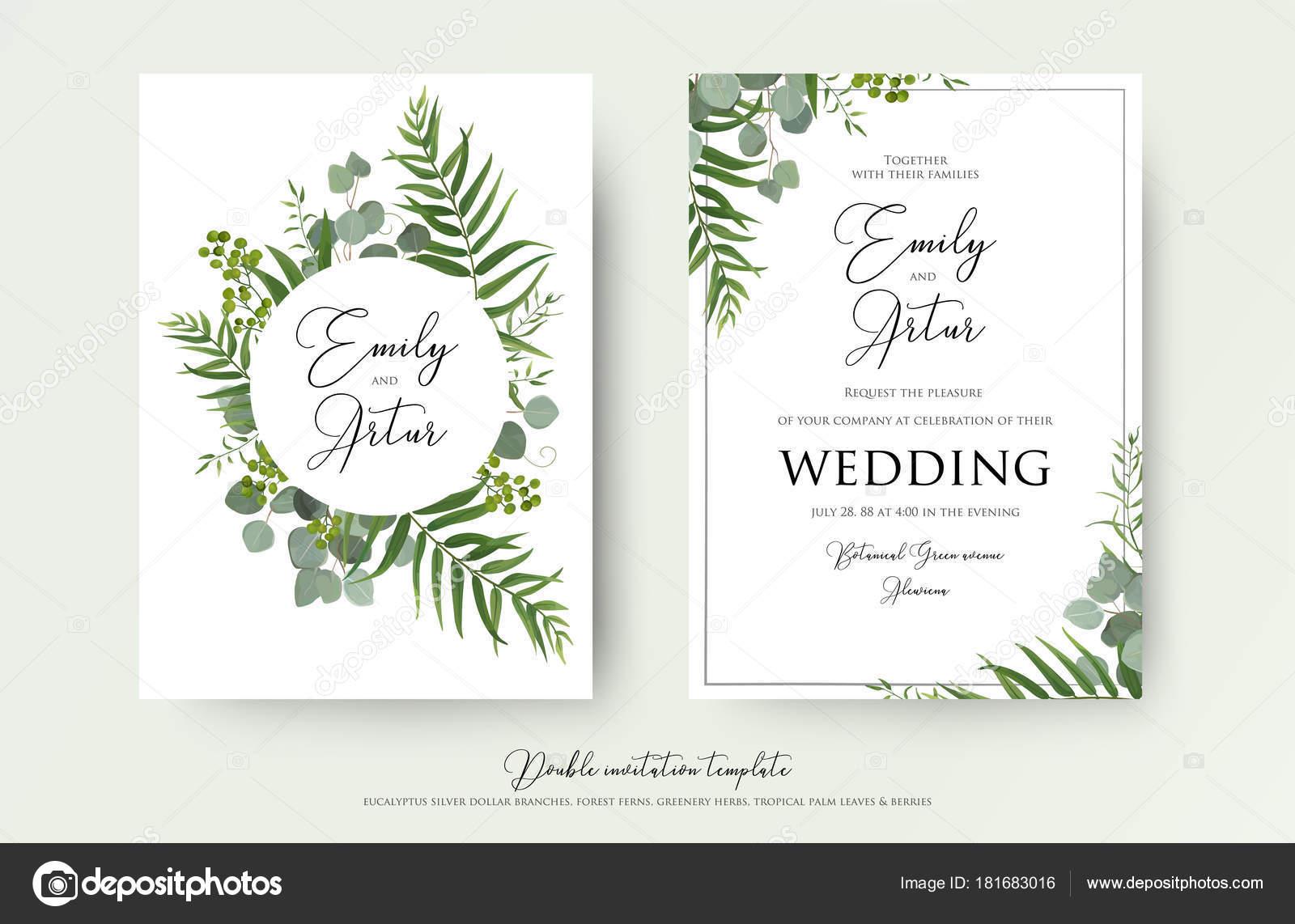 Wedding Invitation, floral invite thank you, rsvp modern ...