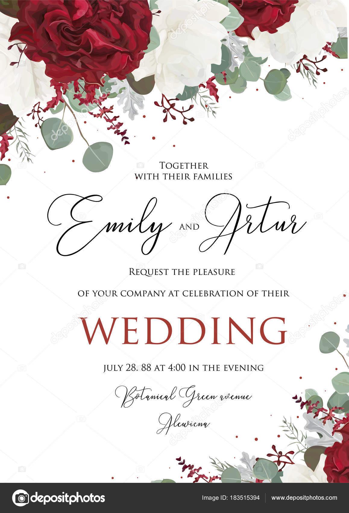 Свадебные цветочные пригласить приглашение сохранить