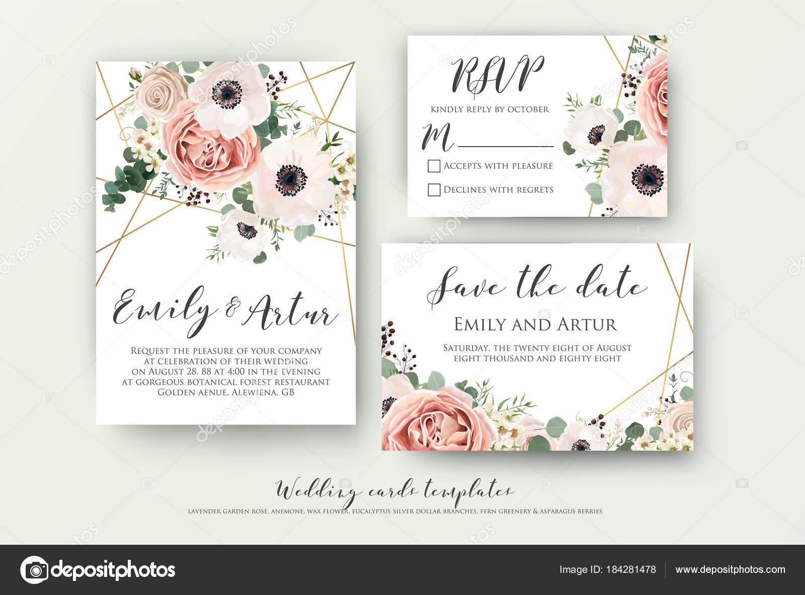 Hochzeitseinladung, Einladung, rsvp speichern das Datum Kartendesign ...
