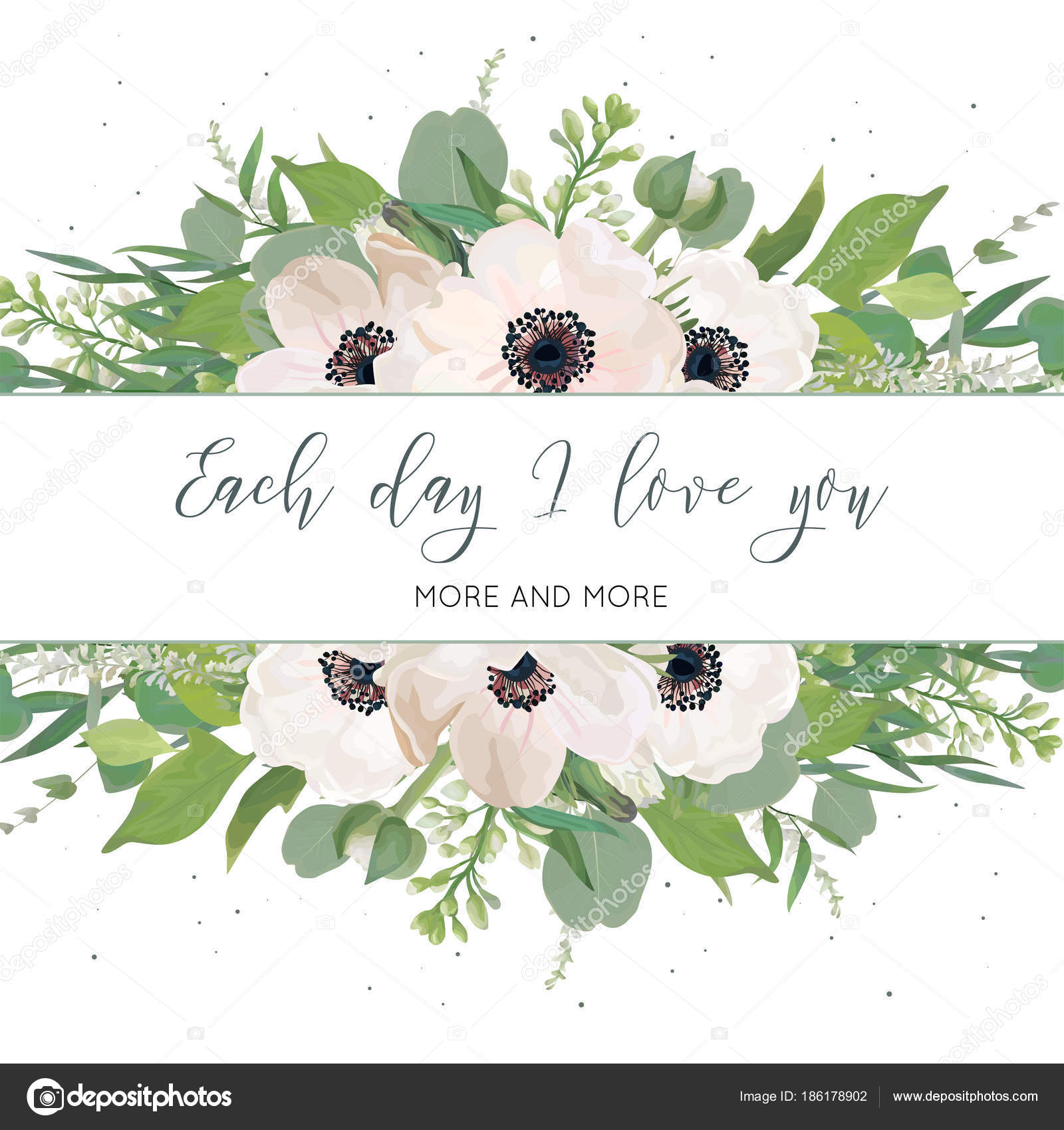 Eucalyptus Leaves White Lilac Flowers Greenery Herbs Mix Decorative Border Romantic Rustic Wedding Invite Save The Date Template Vector By Alewiena