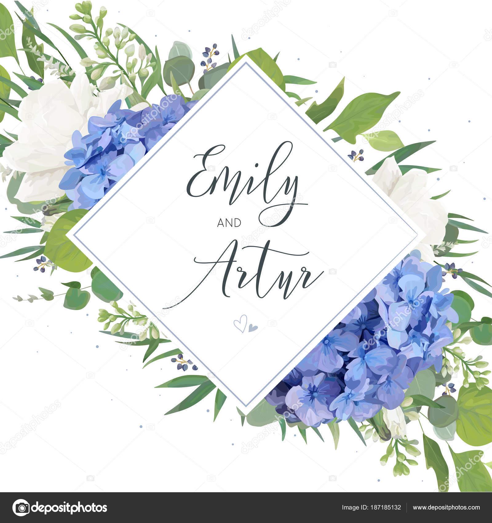 Hochzeit Blumen Laden Speichern Das Datum Kartendesign Mit Elegante