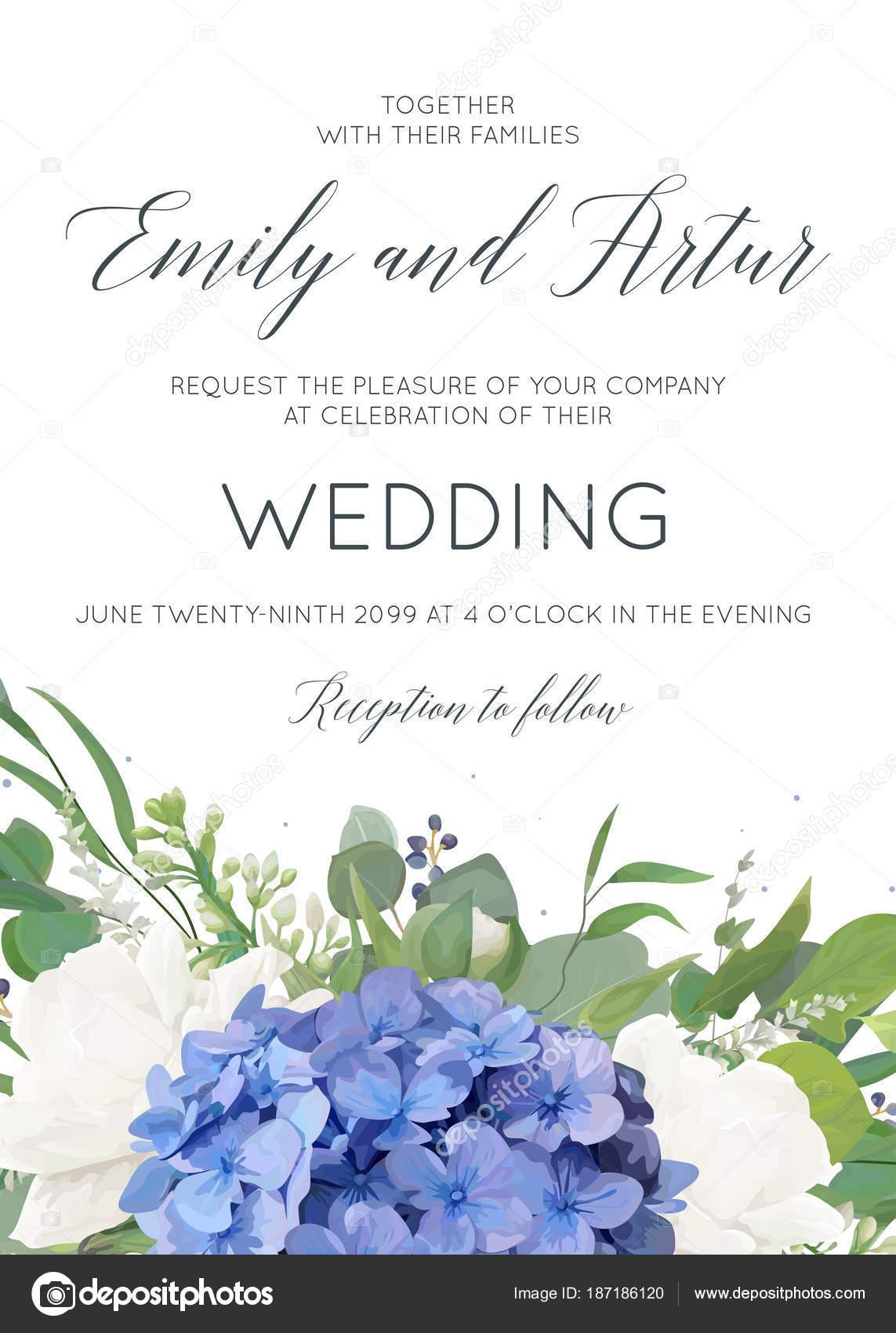 Hochzeit Blumen Einladen Einladung Kartendesign Mit Eleganten