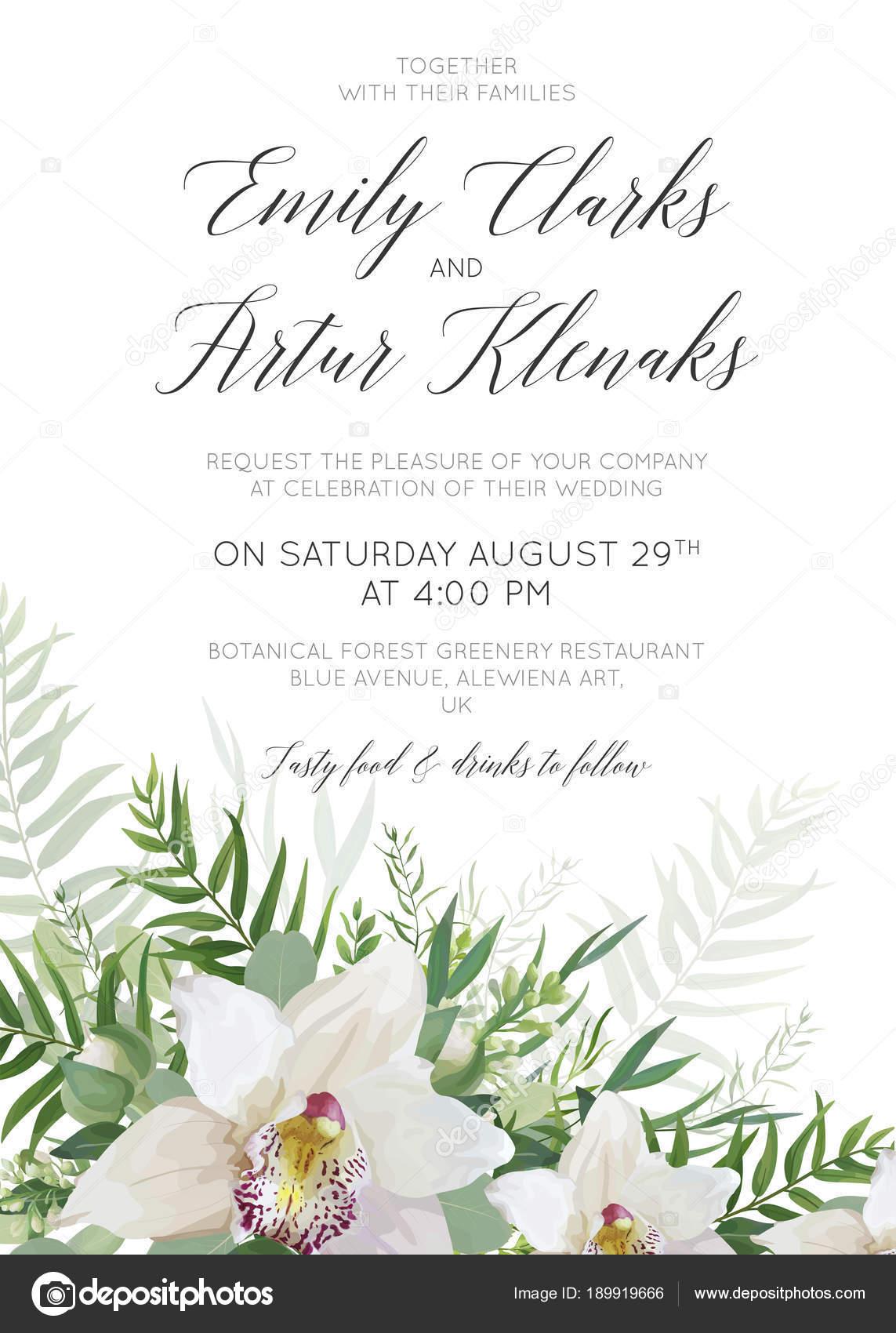 Wedding invitation, invite, save the date card delicate design with ...