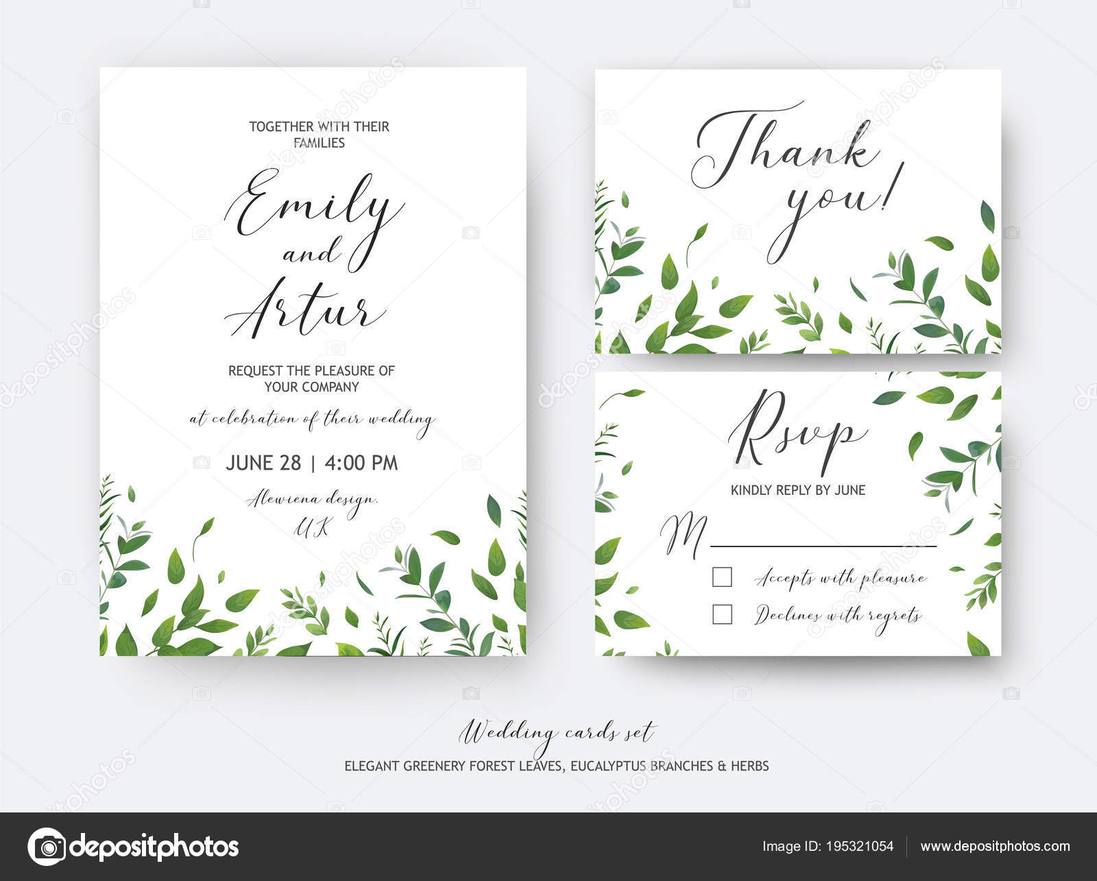 wedding invite invitation rsvp thank you cards vector art design