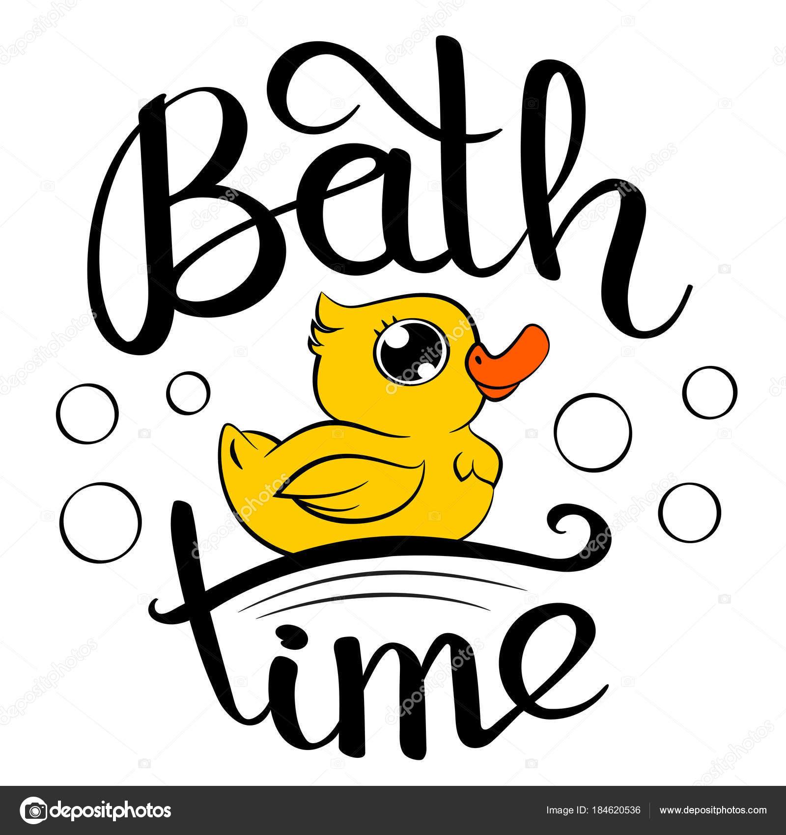 お風呂時間のアヒル ストックベクター Foxfinitive 184620536