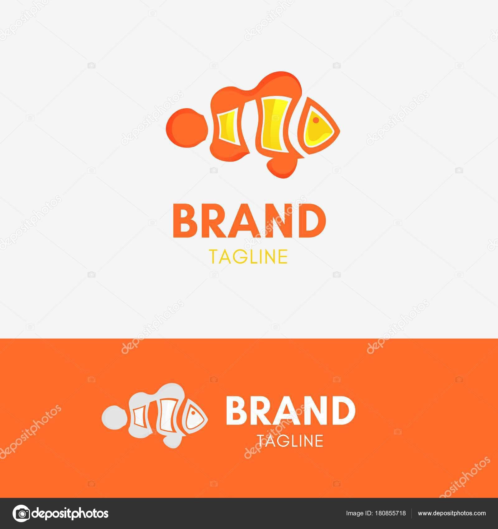 Clown-Fisch-Logo — Stockvektor © endemiq #180855718