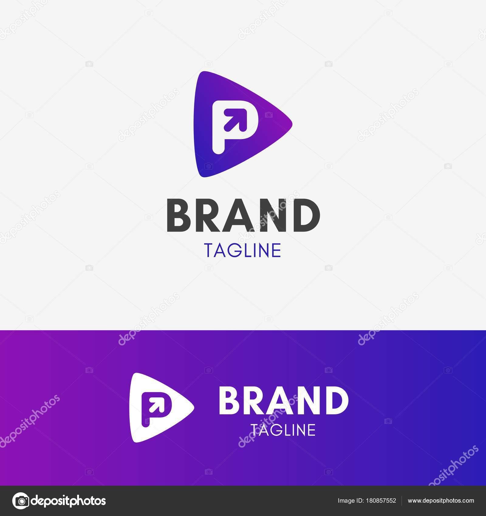 Letter p arrow logo stock vector endemiq 180857552 letter p arrow logo template element symbol in vibrant color vector by endemiq biocorpaavc