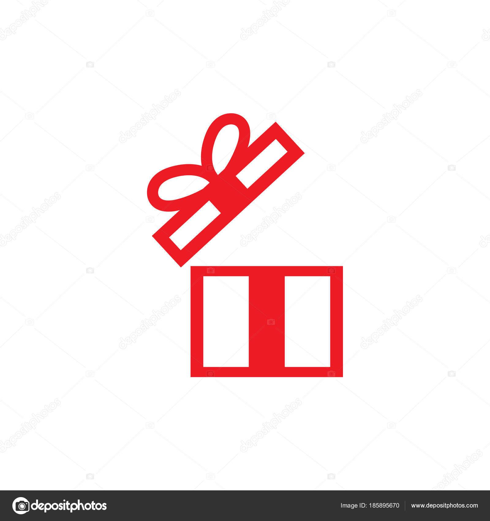 Geschenk Box Logo Und Symbol Vorlage — Stockvektor © haris99 #185895670