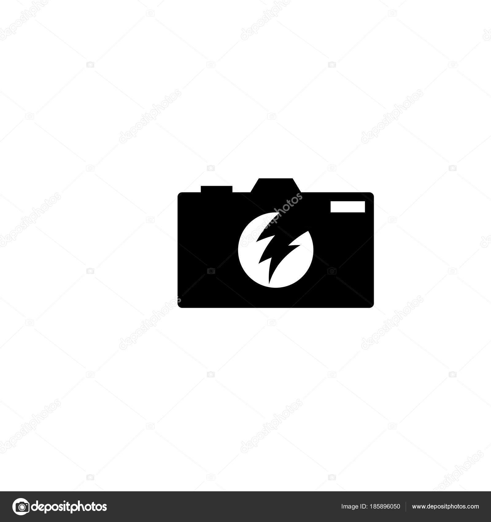 Kamera Fotografie Silhouette Logo Vorlage Vektor — Stockvektor ...
