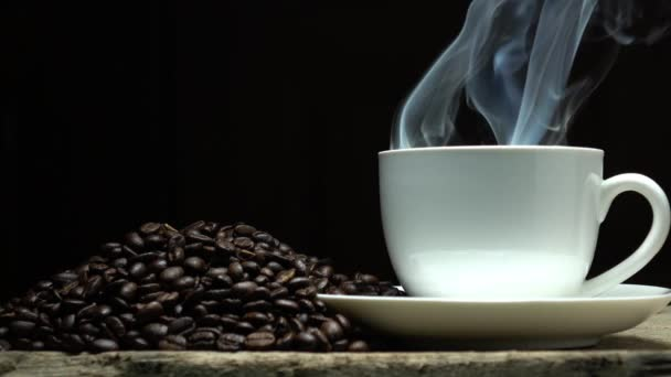 coffee beans in slow motion