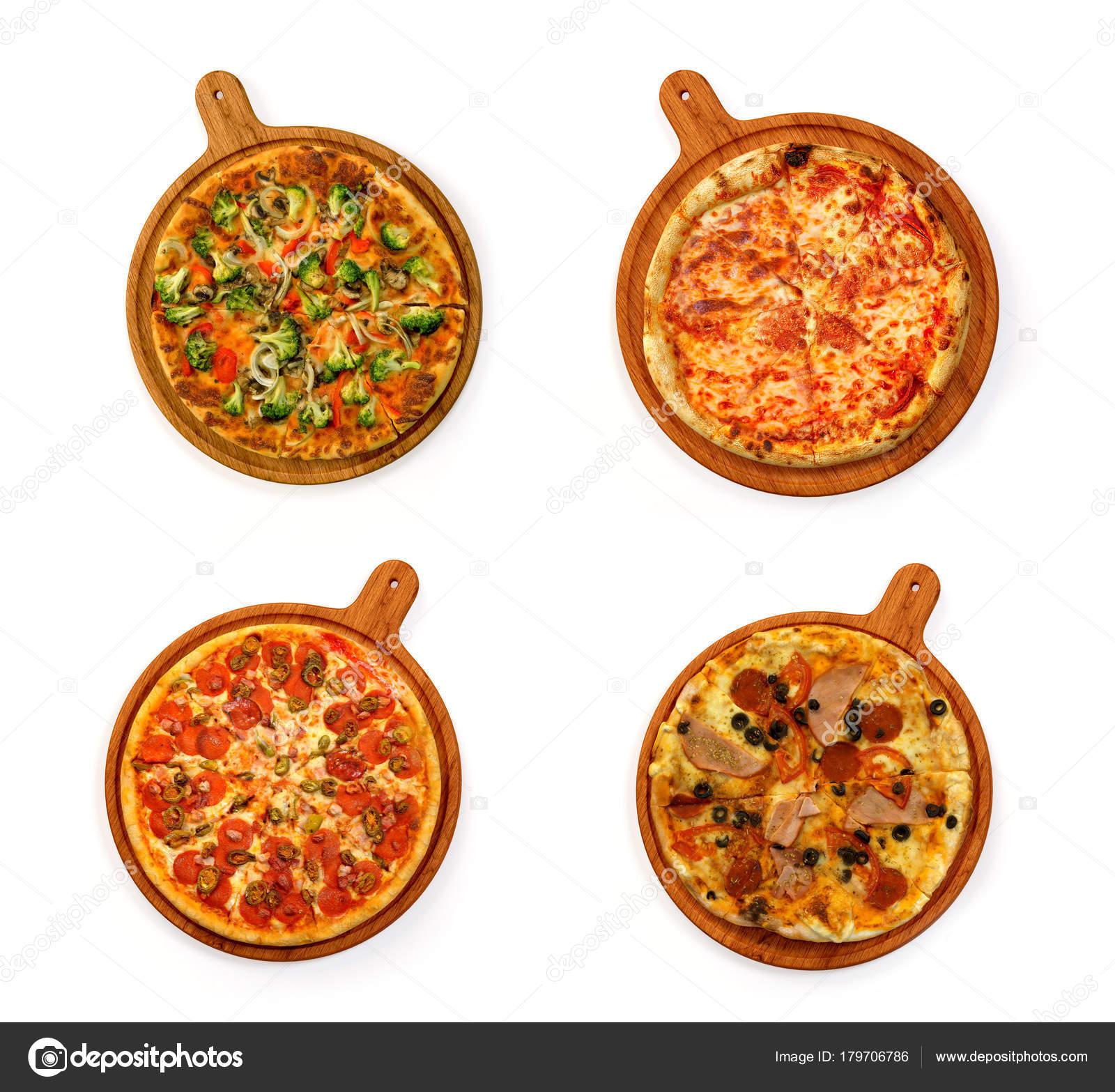pizza set isolated on white stock photo automotive stocks 179706786