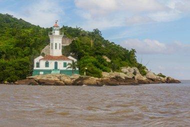 Itapua lighthouse in Guaiba lake