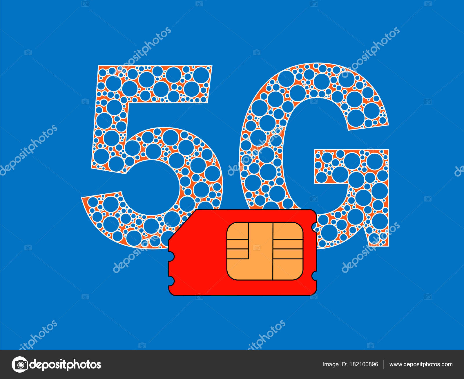 Business Sim Card High Speed Mobile Internet — Stock Vector ...