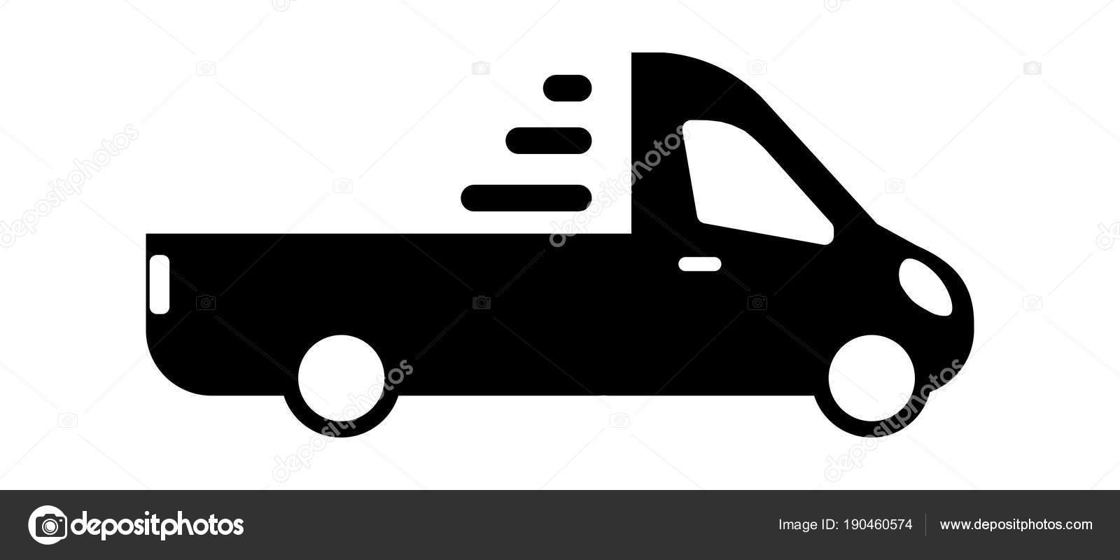 Pickup Truck Modern Icon Minibus Minivan Stock Vector