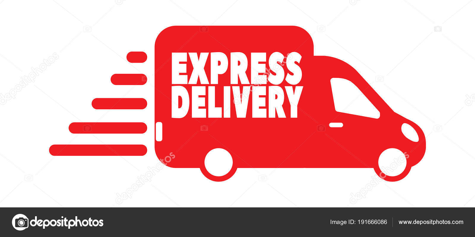 97a5ff34ca142 Express Delivery Bus Icon Delivery Service Logo Transport Car — Stock Vector