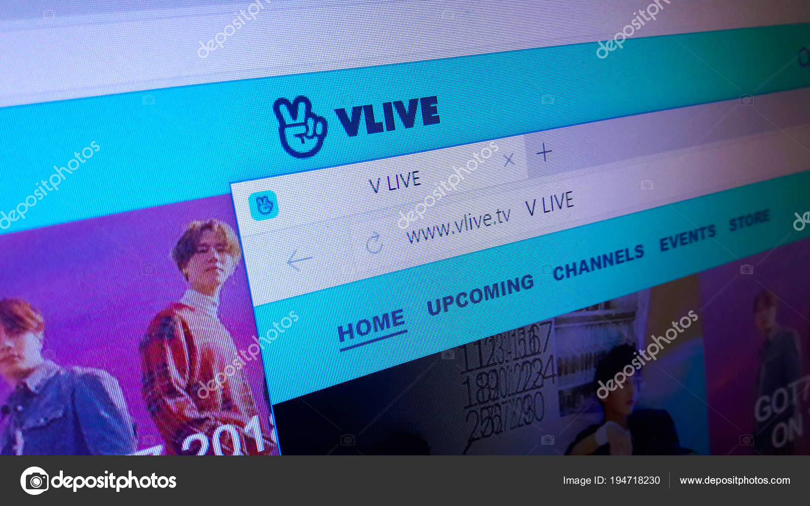 Minsk bielorrssia abril 2018 homepage site oficial vivo vlive live minsk bielorrssia abril 2018 homepage site oficial vivo vlive live fotografia de stock stopboris Images