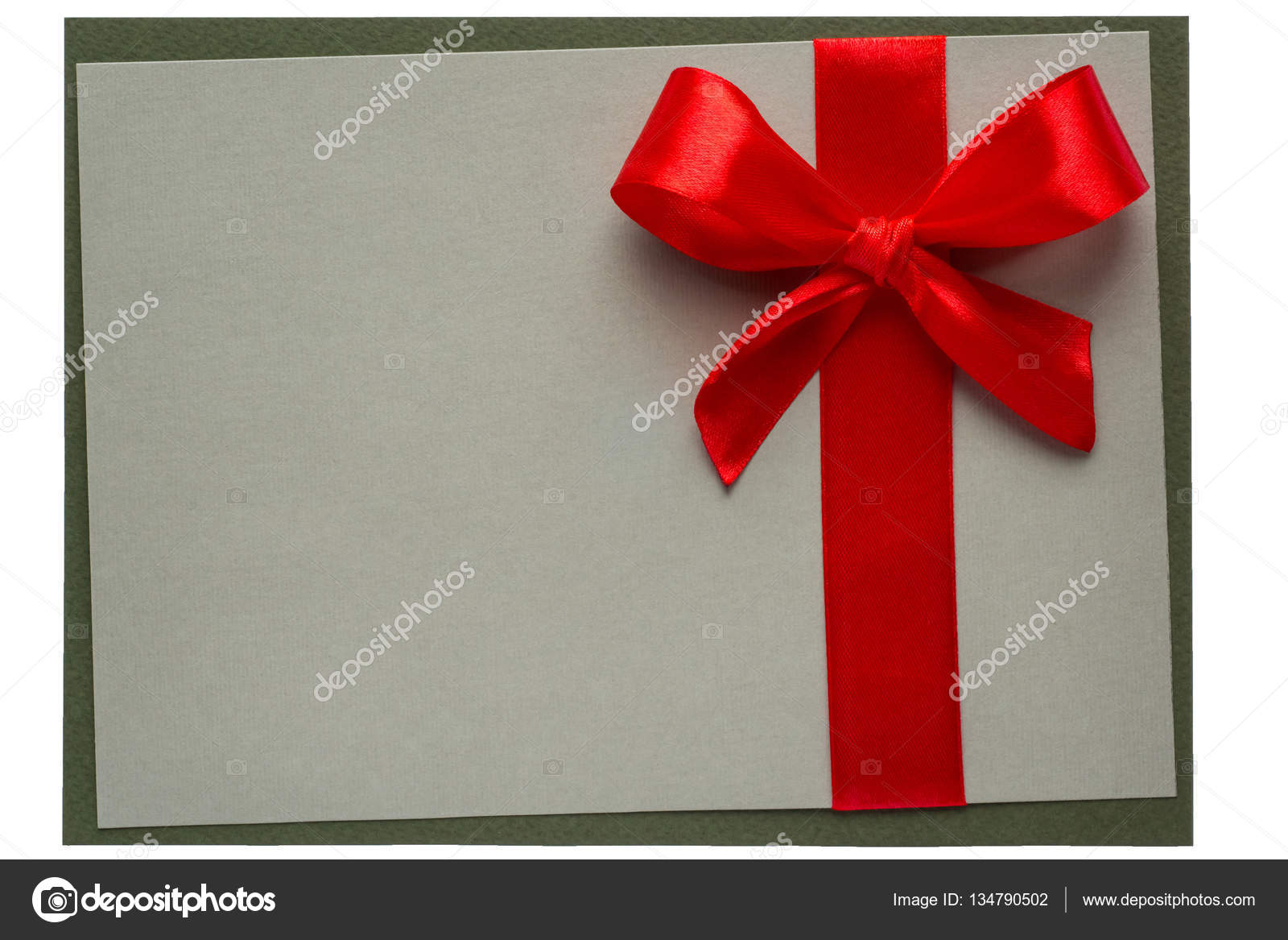 Geschenk Karte Rahmen mit roter Schleife — Stockfoto © sgorin #134790502