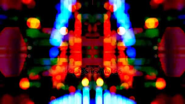 Spinning absztrakt karnevál fények