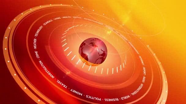 3D grafické Breacking News červené digitální pozadí