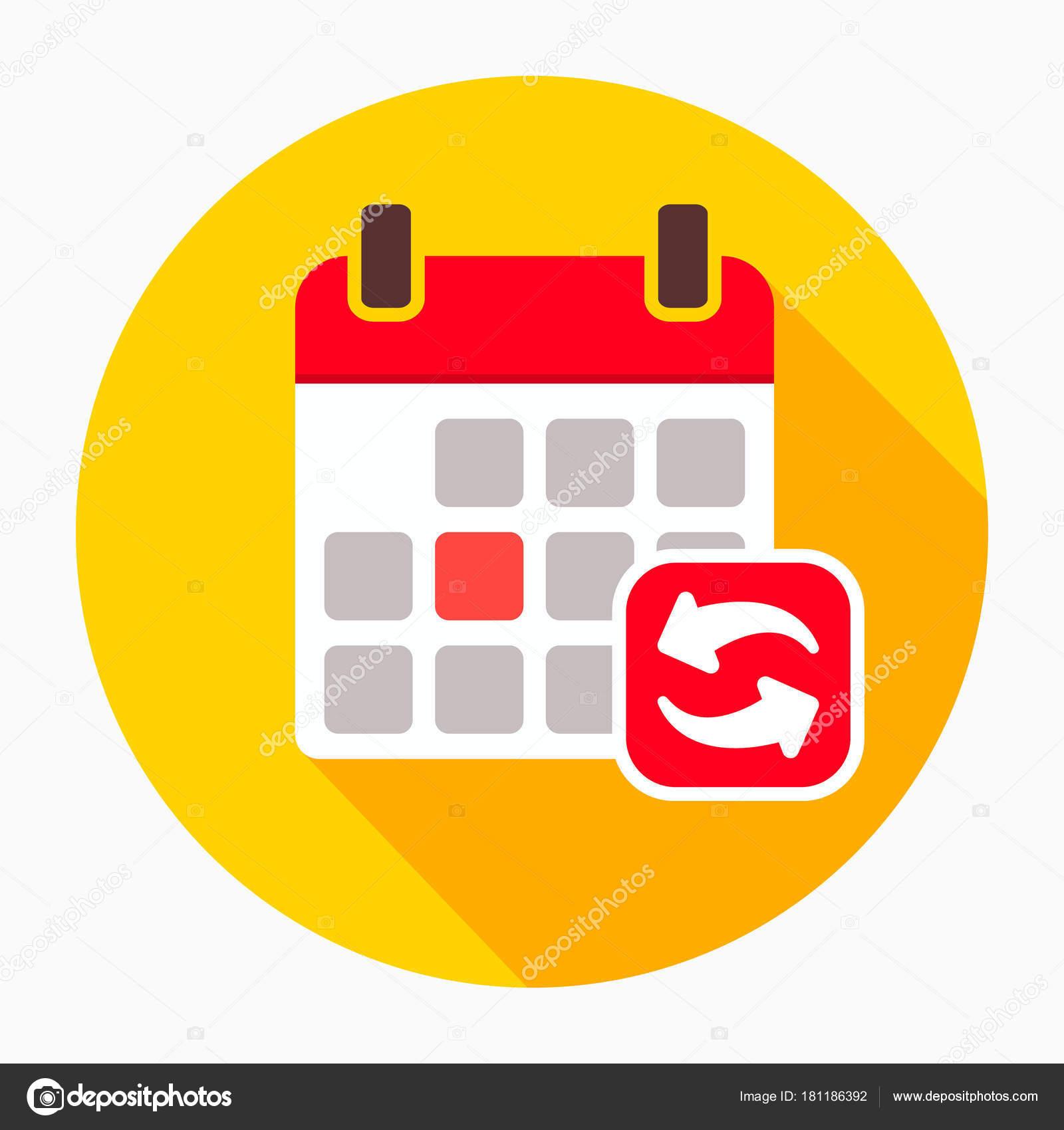 Actualizar Calendario.Actualizar Actualizacion Calendario Icono Vector Muestra
