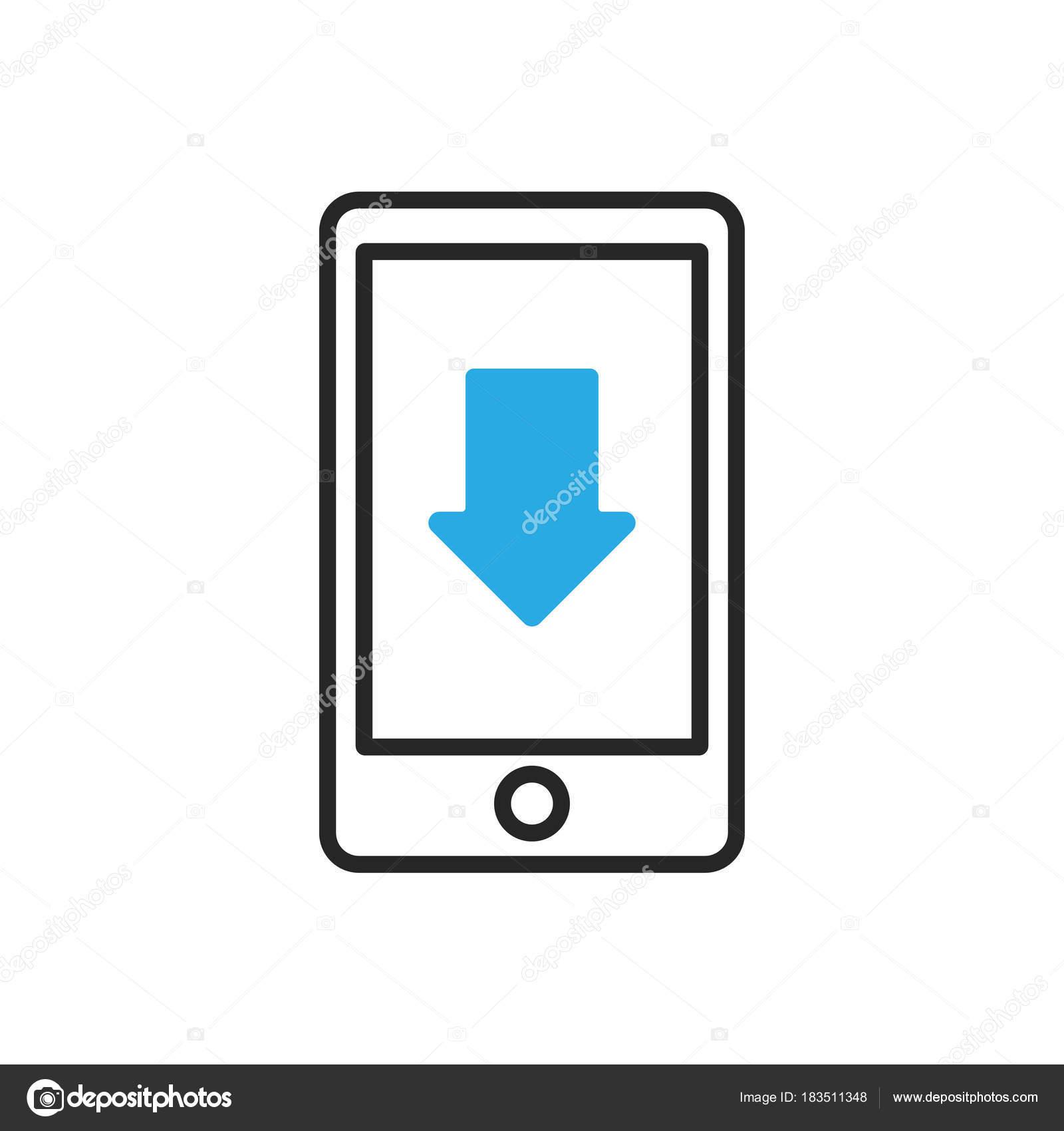 Smartphone Icon Mobile Scroll Down Stock Vector Azvector 183511348