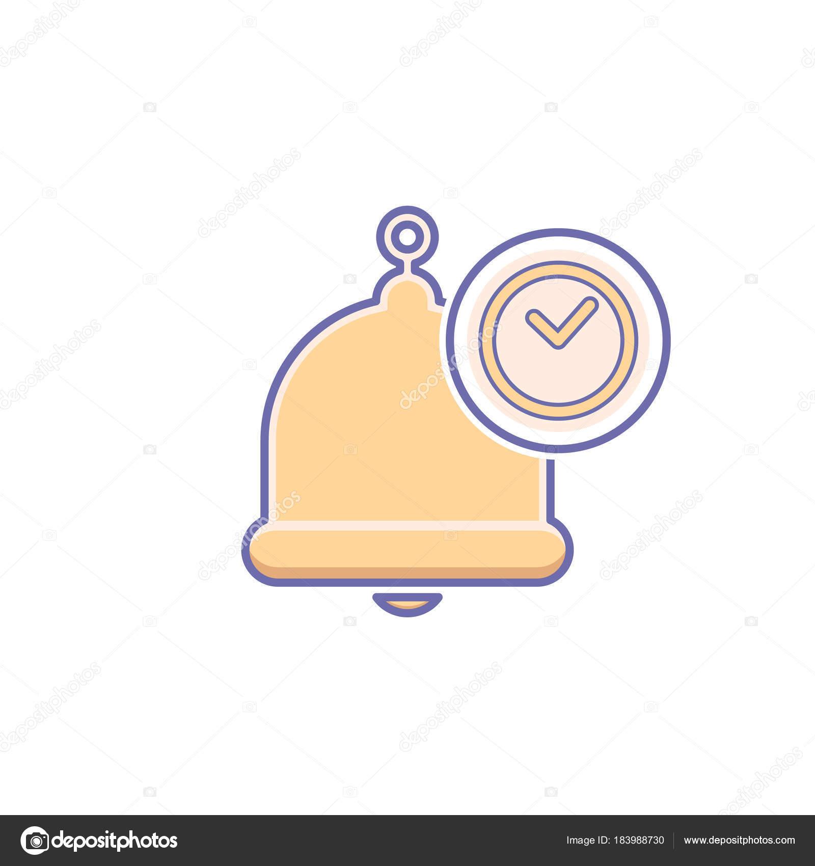 Alarma, alerta, campana icono llamada, cartel de notificación ...