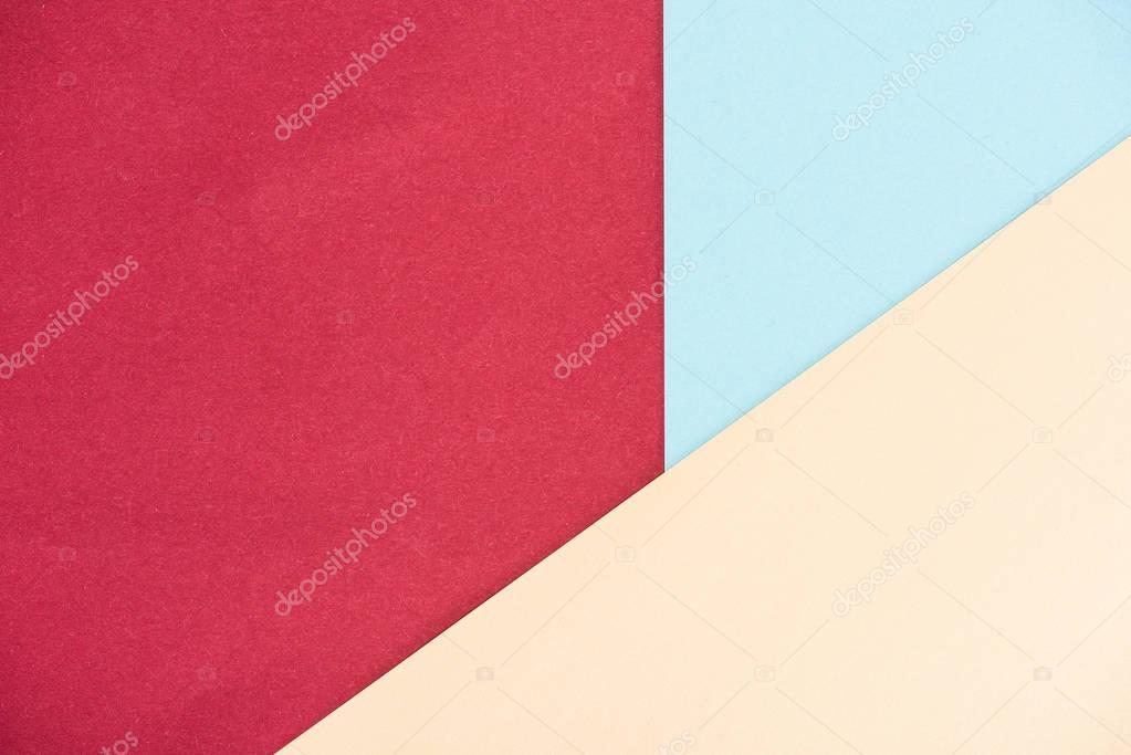abstract pastel colors geometrical background made of papers