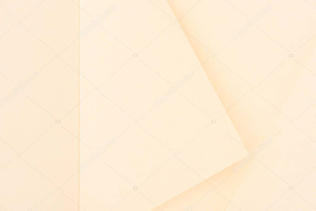 top view of light biege color paper