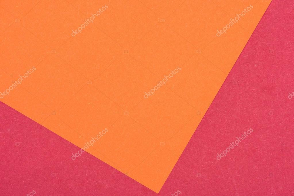 close-up shot of orange and purple paper layers for background