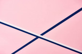 Abstract pink pattern with blue and white lines