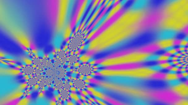 Retro hippie barevný abstrakt
