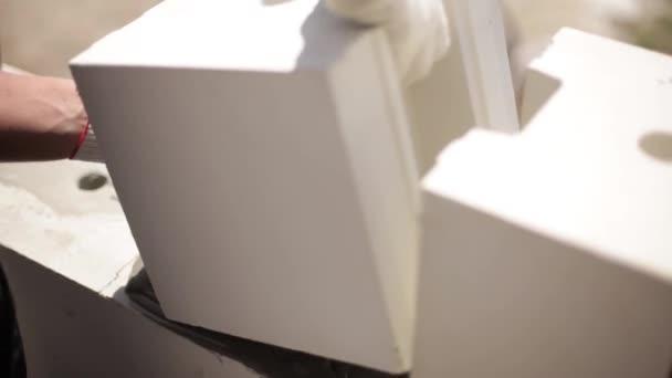Postavit dům bílé bloky
