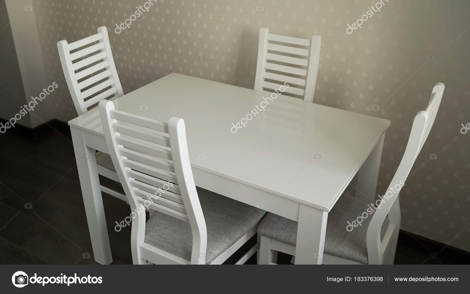 Küchentisch Mit Stühlen Küche Tisch Und Stühle Der Küche Stockfoto