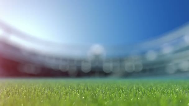 Soccer ball movint a kamera nézet középpontjában.