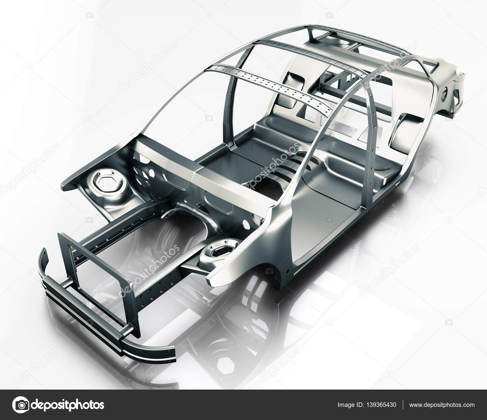 Auto-Rahmen isoliert. 3D illustration — Stockfoto © lookaround ...