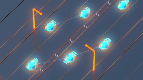 Autonome System Transportkonzept, smart City, Internet der Dinge, Fahrzeug, Fahrzeug, Fahrzeug, Infrastruktur, Fahrzeug, Fußgänger, abstrakte Bild visuelle 4k 3d animation