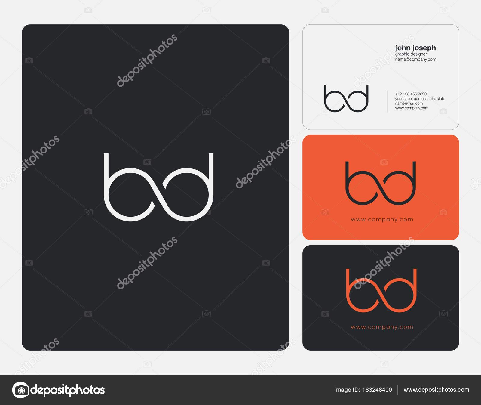 Lettres De BD Mixte Icone Du Logo Avec Modele Vecteur Carte Visite Illustration Stock