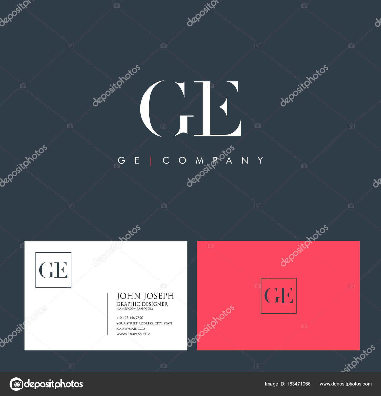 Logo Joint Business Card Template Vector Stock Vector