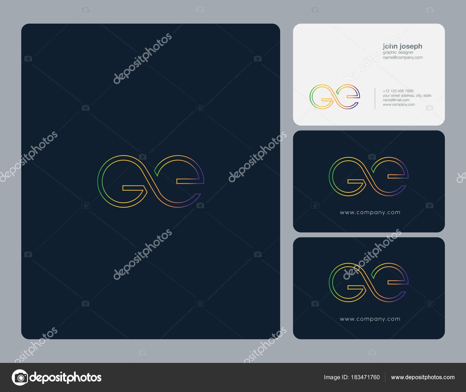 logo joint business card template vector stock vector ajayandzyn