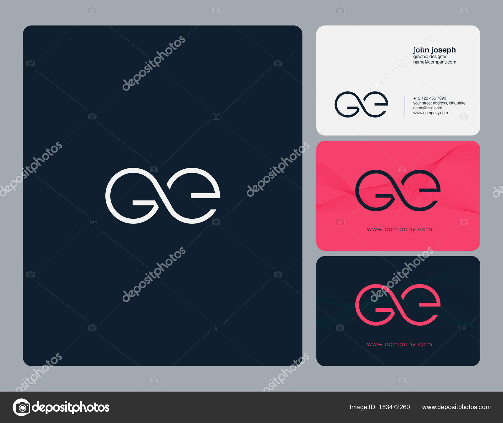 Ge Business Card Template Logo Joint Business Card