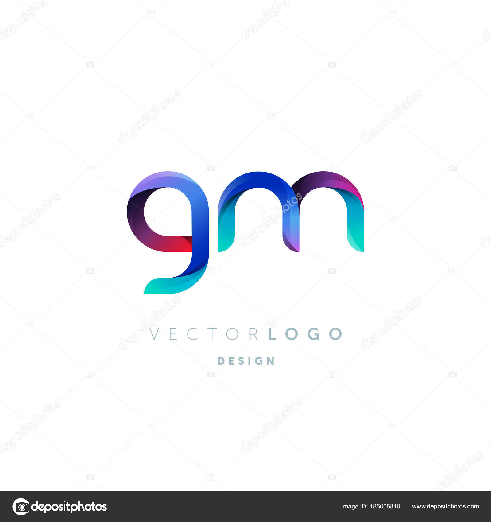 Gradient Letters Logo Business Card Template Vector — Stock Vector ...