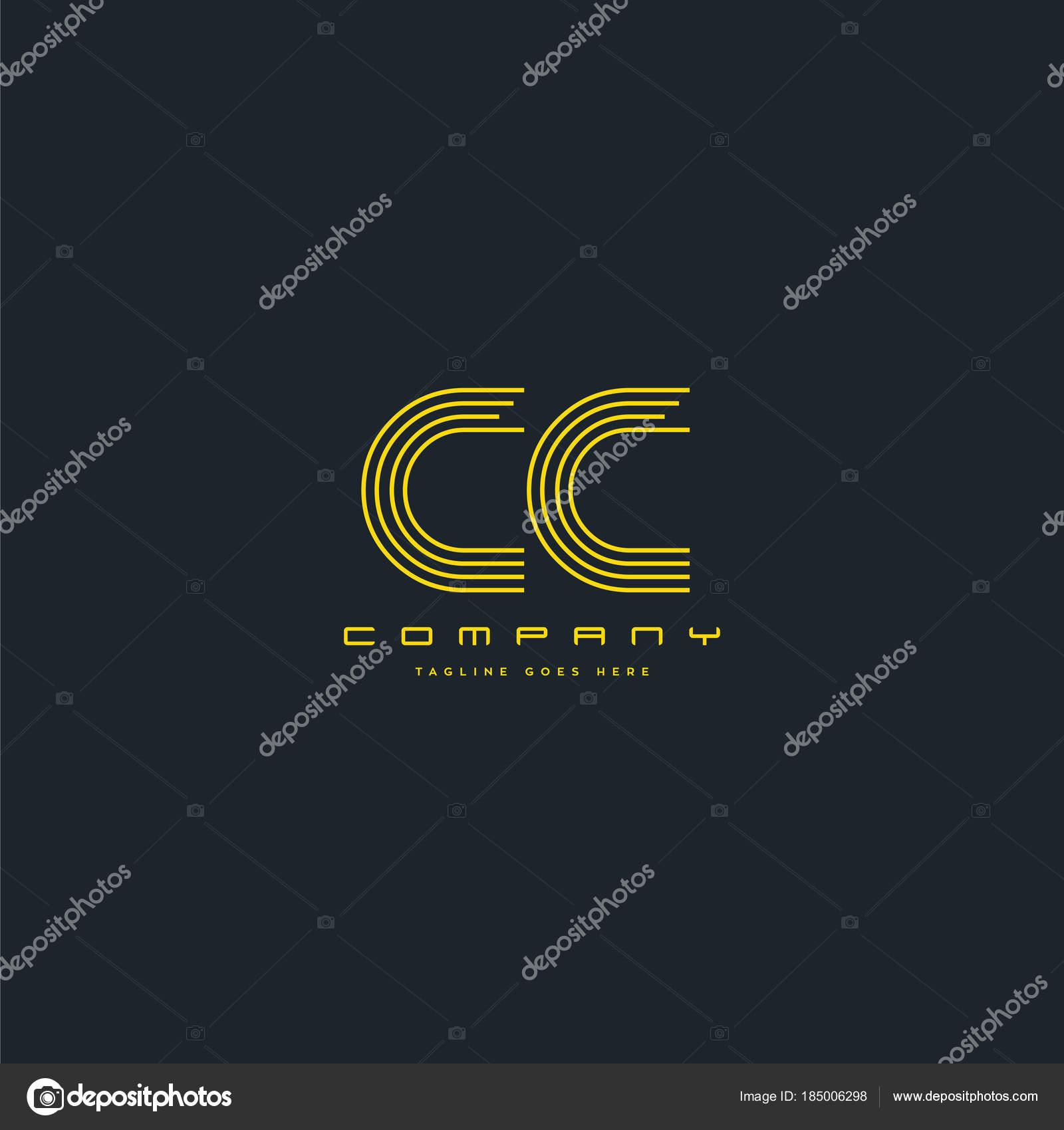 Logo De La Ligne Cc Pour Le Modle Carte Visite Vecteur En Collaboration Par Ajayandzyngmail