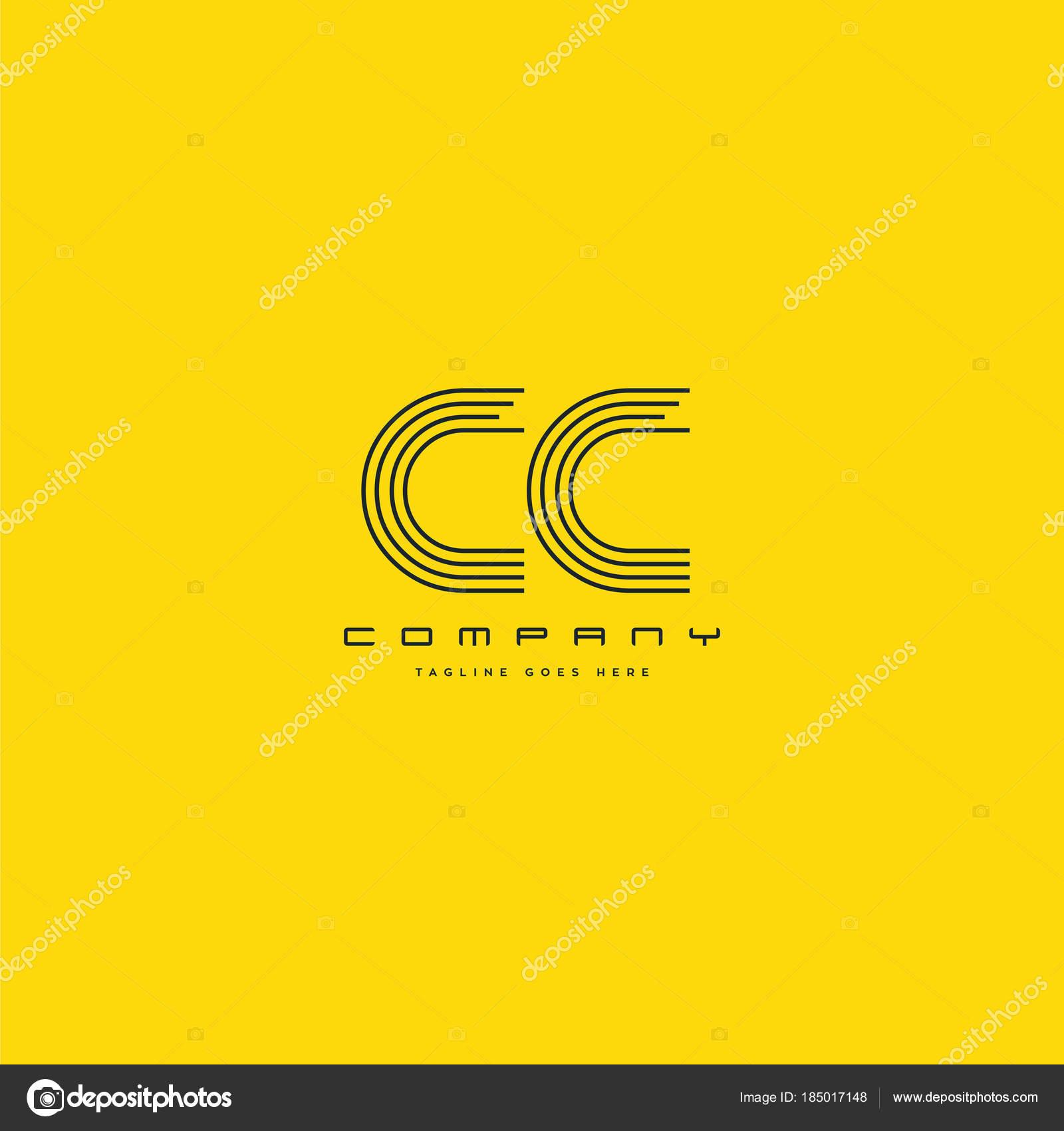 Logo De La Ligne Cc Pour Le Modele Carte Visite Vecteur En Collaboration Illustration Stock
