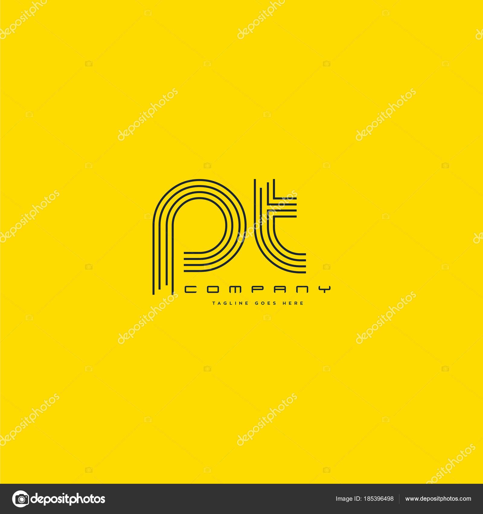 Común Letras Logo Plantilla Tarjeta Visita Vector — Archivo Imágenes ...